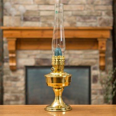 Aladdin Brass Table Oil Lamp