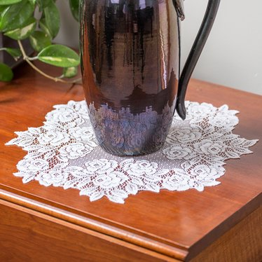 Tea Rose Doily