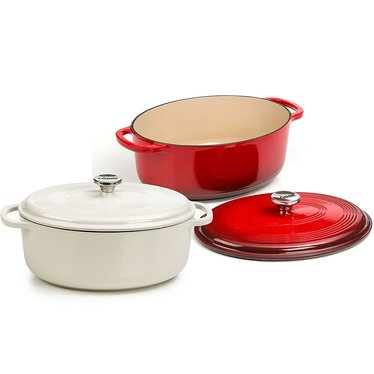 Lodge Enameled Cast Iron 7 Qt Oval Dutch Oven