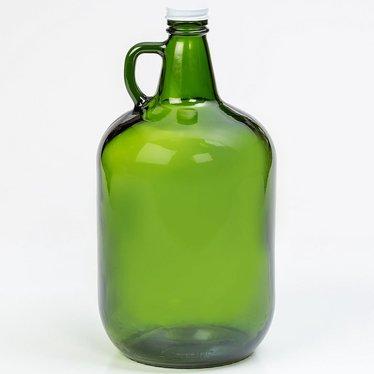 Green Glass Gallon Jug with Twist Cap