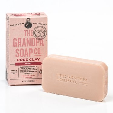 Grandpa's Rose Clay Bar Soap