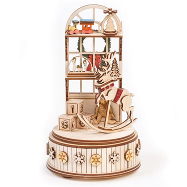 Santa's Workshop Music Box