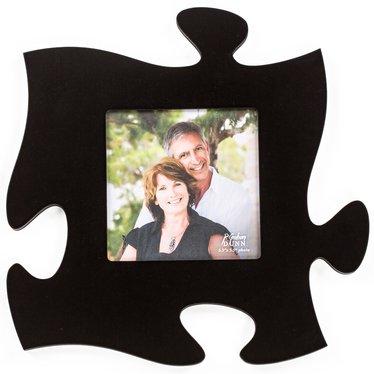 Black Puzzle Piece Photo Frame