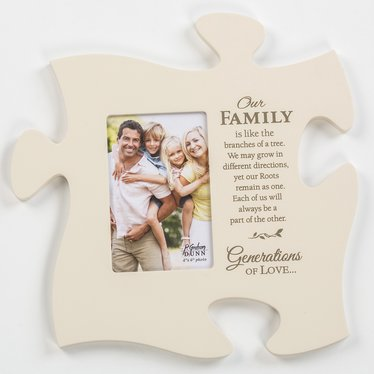 Our Family Puzzle Piece Photo Frame