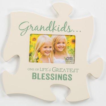 Grandkids Puzzle Piece Photo Frame