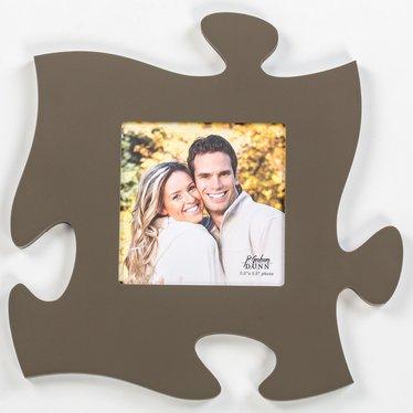Gray Puzzle Piece Photo Frame