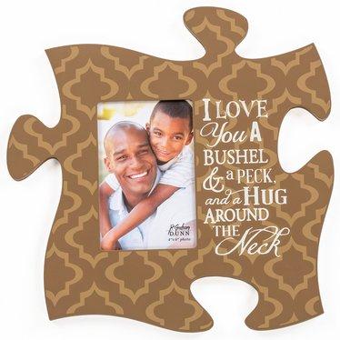 A Bushel & A Peck Puzzle Piece Photo Frame