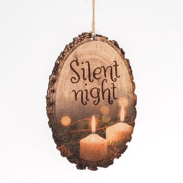 Silent Night Log Ornament