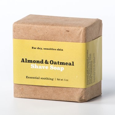 Natural Almond and Oatmeal Shaving Soap