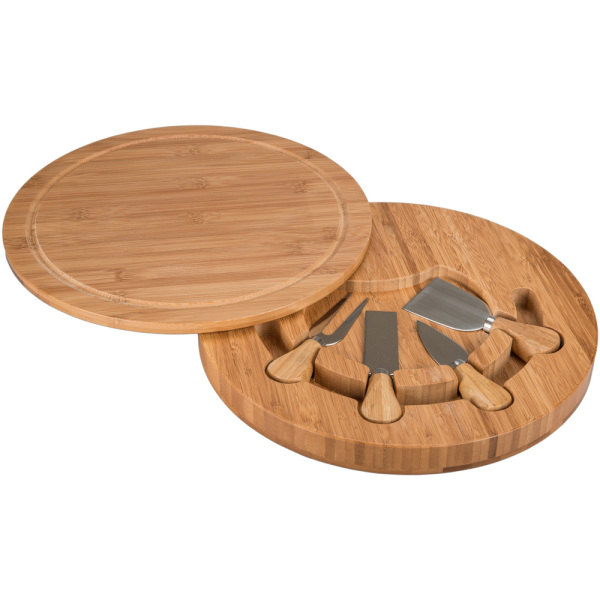 Swivel Cheese Board with 4-Piece Tool Set
