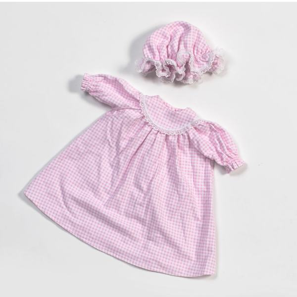 Eli & Mattie Doll Nightgown – Pink Flannel