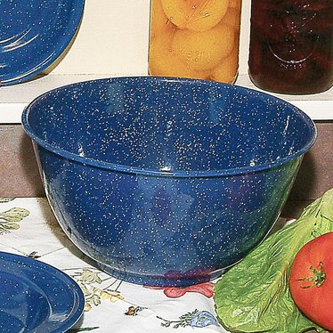 Royal Blue Enamelware Mixing Bowl
