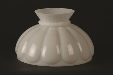 "10"" Opal Melon Oil Lamp Shade"