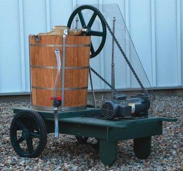 20-Quart Electric Ice Cream Freezer Cart