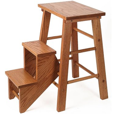 Handcrafted Solid Oak Step Stool