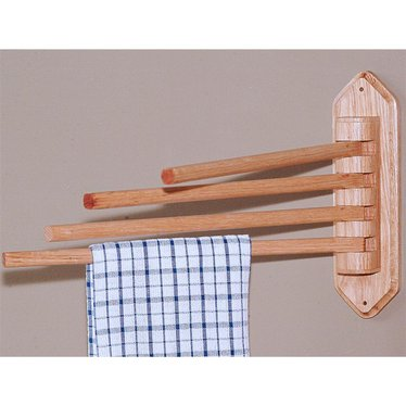 Solid Oak Towel Rack