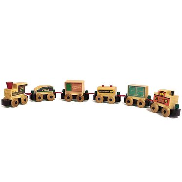 Pint-Sized Wooden Railway Train Set