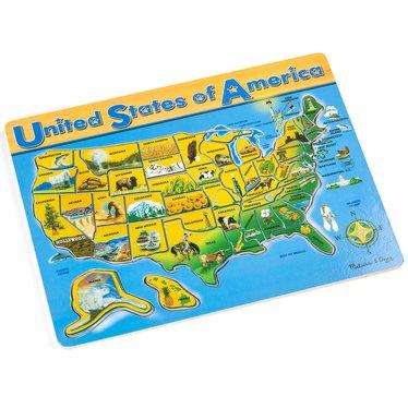 USA Map Puzzle, Puzzles - Lehman\'s