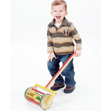 Jacob's Little Wooden Mower