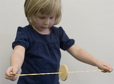 Button and String Toy