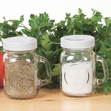 Canning Jar Salt and Pepper Shakers - Set of 2
