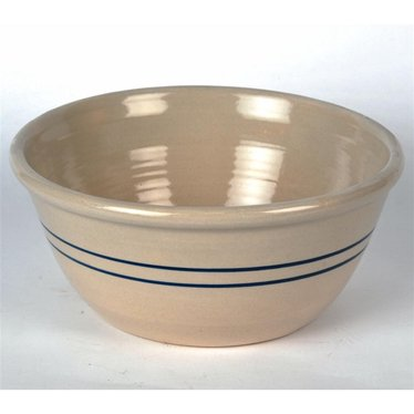 "10"" Heritage Blue Stripe Stoneware Mixing Bowl"