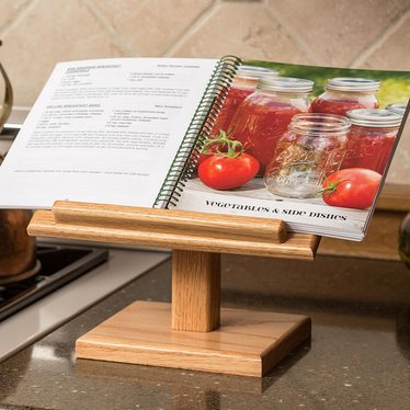 Oak Cookbook Holder