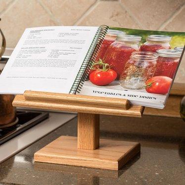 Oak Cookbook Holder