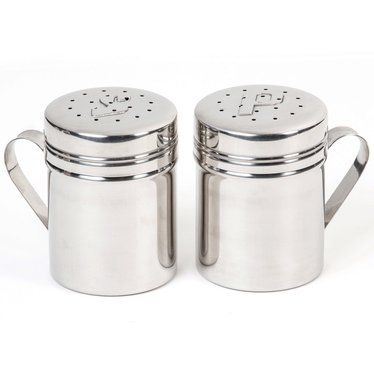 Retro Stainless Steel Salt and Pepper Shakers