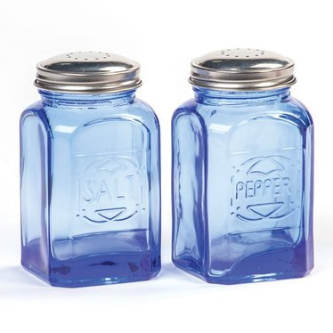 Retro Glass Salt and Pepper Shakers