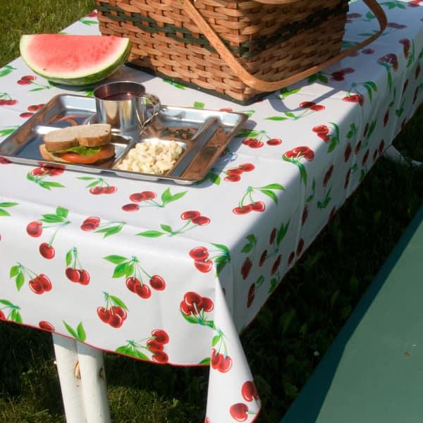 Rectangle Vintage Vinyl Tablecloths