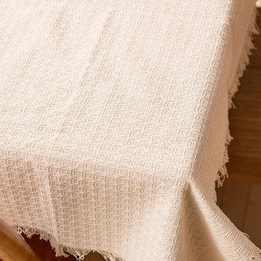 """Mountain Weave Tablecloth - 62""""x90"""" Oval"""
