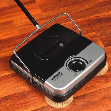 "11"" Non-Electric Floor Sweeper with Corner Brushes"
