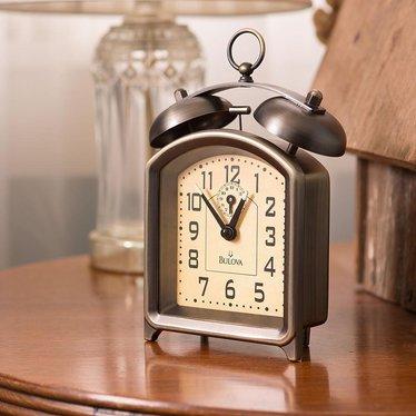 Antique Bronze Key-Wound Alarm Clock