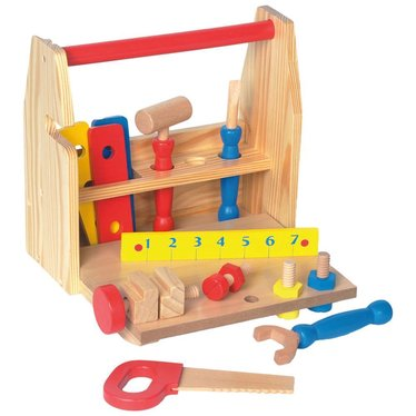 Child's Wooden Toy Tool Set
