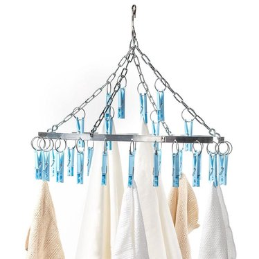 Clothespin Chandelier Dryer