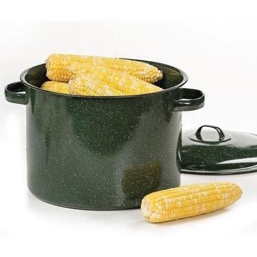 Enamelware Corn Pot