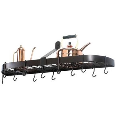 Bronze Wall Pot Rack