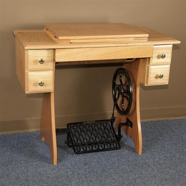 Traditional Sewing Cabinet and Treadle