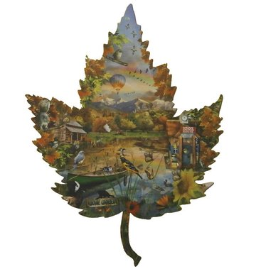 Shaped Jigsaw Puzzle - Autumn Leaf