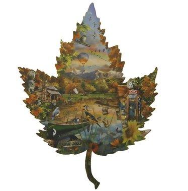 Shaped Jigsaw Puzzle - Autumn Leaf