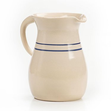 Heritage Blue Stripe Stoneware Pitcher