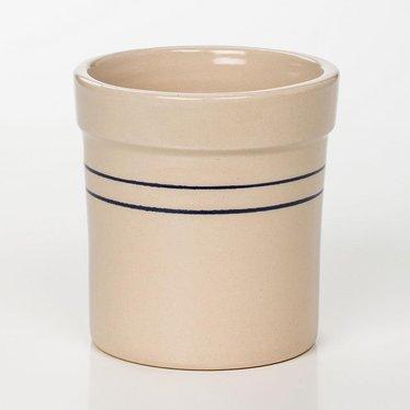 Heritage Blue Stripe Stoneware Crock - 1/4 Gallon