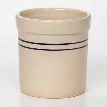 Heritage Blue Stripe Stoneware Crock - 1/2 Gallon