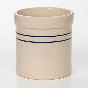 Heritage Blue Stripe Stoneware Crock - 3/4 Gallon