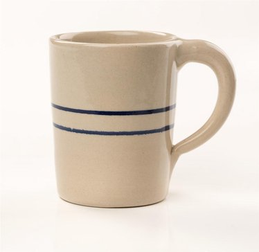 Heritage Blue Stripe Stoneware Traditional Mug