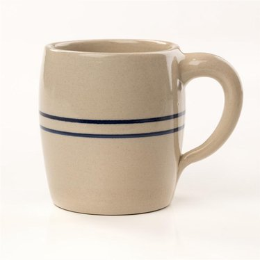 Heritage Blue Stripe Stoneware Barrel Mug
