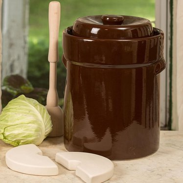 European-Style Fermenting Crocks - 3 Gallon