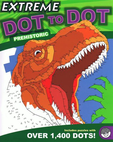 Extreme Dot-to-Dot Prehistoric Book