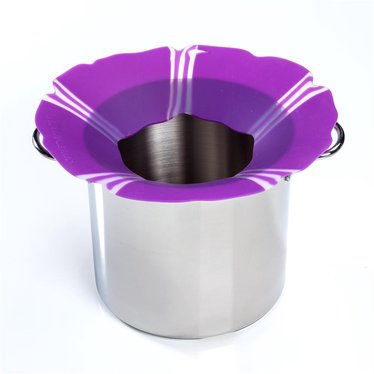 Silicone Overboil Ring - Purple Flower